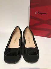 Authentic Salvatore Ferragamo Black Suede Women's Shoes Size 6