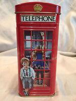 Collectible Churchill's Heritage of England Telephone Kiosk Money Coin Box Tin
