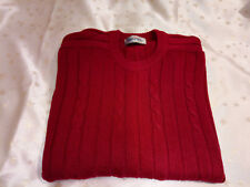 Antartex Mens Deep Red Cable Knit Jumper Size 60in Chest