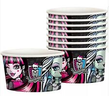 NEW~MONSTER HIGH~TREAT/ICE CREAM CUPS~16 COUNT
