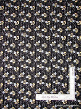 Bumble Bee Stripe Black Cotton Fabric #6644 Henry Glass & Co Sew Bee It - Yard