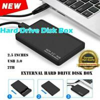 "2.5"" External 2TB Ultra Slim Hard Disk Drive USB 3.0 HDD Data Storage Device"