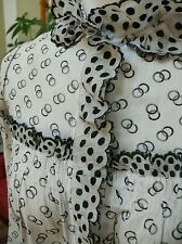 1880`s Victorian Dress Black & White Handkerchief Dotted Swiss Linen Material