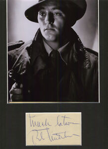 ROBERT MITCHUM HOLLYWOOD SUPERSTAR SIGNED AUTHENTIC AUTOGRAPH DISPLAY UACC