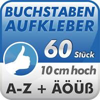Aufkleber A-Z Klebebuchstaben - 10 cm hoch - 60 Stück