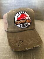 Jurassic Park Ranger Hat Trucker Claw Mark Embroidered Patch Cap Dinosaur Movie