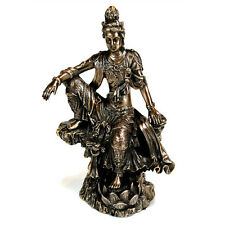"KWAN YIN STATUE 4.75"" Buddhist Goddess HIGH QUALITY Bronze Resin NEW Quan Guan"