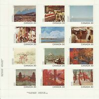 Canada Stamp #966a -Canada Day(1982)PROVINCIAL & TERRITORIAL PAINTINGS sheet MNH