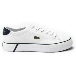 LACOSTE WOMENS GRIP SHOT Court Sneakers WHITE