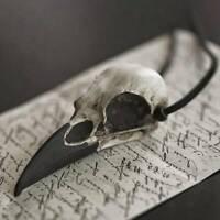 Große Vogel Schädel Halskette Harz Replik Rabe Elster Krähe Poe Halskette yk