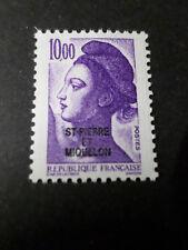 ST-PIERRE-et-MIQUELON, 1986, timbre 469, type LIBERTE', neuf** MNH STAMP