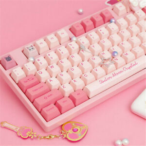 Sailor Moon Anime Cherry MX Keyboards Pink Cute Kawaii Keyboards 87 Keys