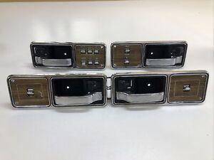 84-96 Jeep Cherokee Wagoneer XJ Woodgrain Power Window Switch W/bezels Set Of 4