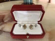 Estate Jewerly Santos Cartier Sterling Silver w/Gold Cufflinks, Excellent