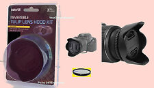 REVERSIBLE TULIP FLOWER HOOD+UV FILTER+LENS CAP+CAP HOLDER  62mm 62mm BOWER