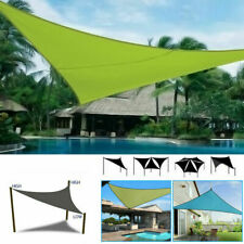 More details for heavy duty sun shade sail garden patio awning canopy 98%uv protect waterproof uk