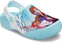 Crocs Funlab Frozen 2 Clogs Kids Childrens Girls Summer Beach Holiday Sandals