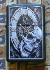 More details for skulls  skull clock zippo lighter free p&p free flints