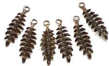 Vintaj Ferns Vintaj Brass Fastenables antique brass Fern Art Nouveau Loop #1416