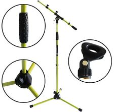 KEEPDRUM MS106 Gelb Mikrofonständer Mikrofonstativ mit Galgen + Mikrofonklemme