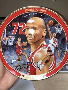 "Michael Jordan ""Record 72 Wins"" Collector's Plate Bradford Exchange Vintage COA"