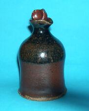 Studio Stoneware Pottery -Olive Oil Pourer / Bottle With Stopper- Marked on Base