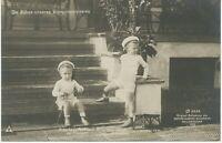 PREUßEN KÖNIGSHÄUSER 1909 ungebrauchte RP AK Die Söhne unseres Kronprinzenpaares