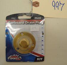 NOS Boater Sports Brass Garboard Drain Plug PN 54837 #997-T18-ENV