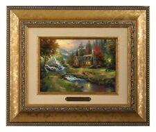 Thomas Kinkade Mountain Paradise Framed Brushwork (Gold Frame)
