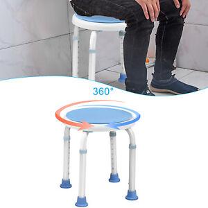 Duschstuhl Verstellbar Badhocker 360° Drehbar Duschhocker Rund Badehocker 136 kg
