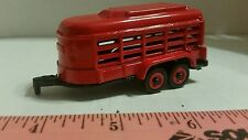 1/64 ERTL farm toy custom red bumper pull short trailer pigs calf sheep goat