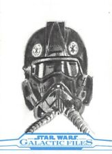 Star Wars Galactic Files 2018 Sketch Card, Tie Fighter Pilot by Sheikh Islam