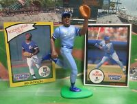 1990 BO JACKSON Starting Lineup (SLU) Baseball Figure & Cards - KC ROYALS