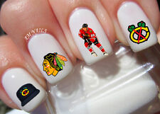 Chicago Blackhawks Nail Art Stickers Transfers Decals Set of 35