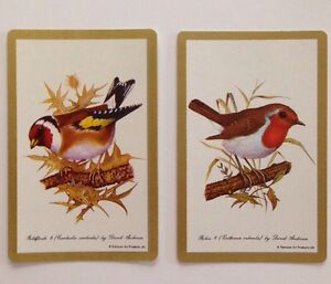 Goldfinch And Robin Vintage Swap Cards Bird Play Cards