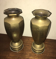 New ListingPair of Ww2 Military Artillery Shell Trench Art Vases 13� Tall Dated 1945
