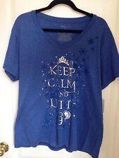 Disney Store Frozen Let It Go Elsa Adult Women Shirt 2XL XXL NWT In Hand