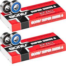 BONES SUPER SWISS 6 BEARINGS 2-PACKS (16pcs) Skateboard Longboard POWELL