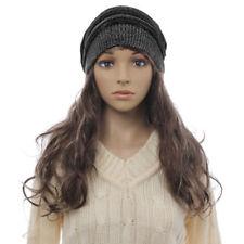 Bonnets noir en laine mélangée pour femme