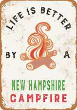Metal Sign - New Hampshire Campfires are the Best -- Vintage Look