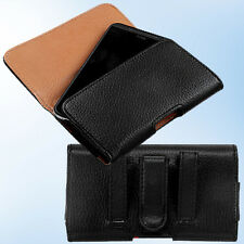 For Casio C811 G'zOne Commando 4G PU Leather Pouch Case Holster Belt Loop Clip