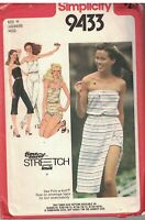 9433 Vintage Simplicity Sewing Pattern Misses Jumpsuit Three Lengths Wrap Skirt