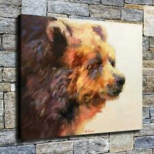"""12""""x16"""" Abstract Bear Head HD Canvas prints Home decor Room Wall art Pictures"""