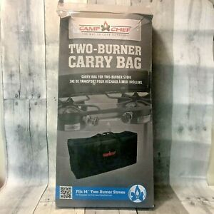 Camp Chef Outdoor Two Burner Stove  Heavy Duty Black Carry Bag CB60UNV New