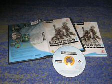 METAL GEAR SOLID 2 SUBSTANCE GIOCO PC-DVD guscio con manuale
