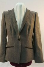 Jones New York Brown Tweed Blazer NWT Size 12 Org $229