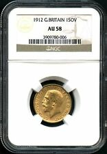 1912 Great Britain Gold Sovereign NGC AU-58 -134098