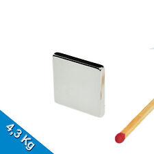 100 AIMANTS NÉODYME 20 x 20 x 3mm NdFeB N45 Aimant de bloc - nickel