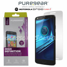 PureGear Motorola Droid Turbo 2 Tempered GLASS HD Screen Perfect Alignment Tray