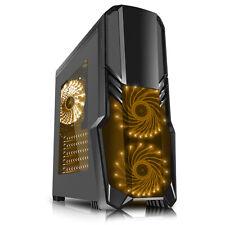 CIT G Force Negro caso de juegos de PC 2 X Rgb delantera 1 x ventiladores traseros & Remoto USB 3.0